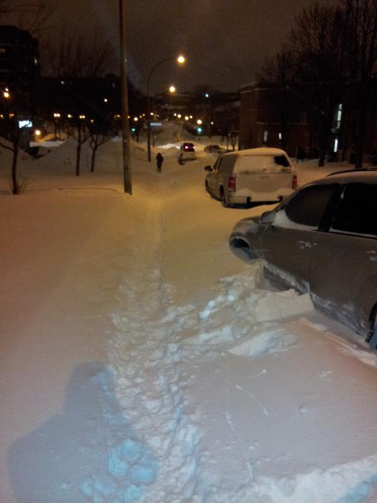Neige a Montreal - Lucien Lallier - 27 Decembre 2012